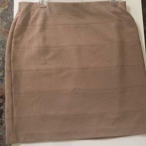 Alfani Plus-Size Beige Skirt